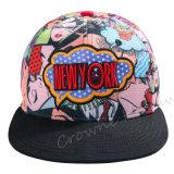 Chapéu feito sob encomenda do tampão do camionista do verão da borda lisa relativa à promoção do Snapback