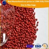La plastica di gomma di PP/PE ricicla i granelli rossi di Masterbatch