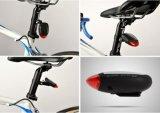 Indicatore luminoso posteriore ricaricabile alimentato solare della coda della bici
