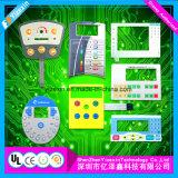 Pulsador de mando a distancia flexible membrana táctiles de paneles para el sistema de seguridad
