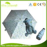 Un mini ombrello eccellente all'ingrosso delle 5 volte con stampa variopinta
