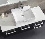 Gabinetes modernos da vaidade do banheiro da madeira compensada do preto da laca do cair da parede (ACS1-L69)