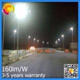 lámpara solar del jardín de la calle de 2017 160lm/W LED con el panel ajustable