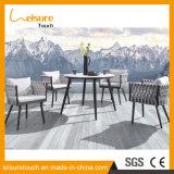 Hotel de alta qualidade Home Lazer Corda de poliéster designs de mesa e cadeira de pátio exterior moderno mobiliário de jardim