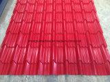 Roulis coloré de panneau glacé par acier de toit de tuile formant la machine à vendre