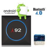 Android 6.0 Google Internet Fernsehapparat-Kasten mit I92 S905W Support 4K HD des Vierradantriebwagen-Kern-64bit 1GB 8GB 2.4GHz WiFi