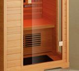Baracca di legno di sauna del Hemlock, 1550W riscaldatore di vetro rosso, baracca dell'acquazzone (K9766)