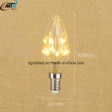 Luz decorativa de la vela del alto lumen LED 110V 220V 1W C35