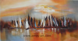 Purpurrote Farben-Auszugs-LandschaftsÖlgemäldenordic-Kunst