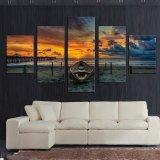 5 panneau Seascape et en bateau avec HD grande toile d'impression pour la salle de séjour Décoration maison cadeau unique Tableau-mur