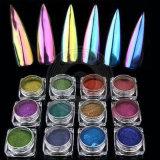 Einhorn-nagelt Neonchamäleon-Chrom-Spiegel-Acryl Kunst-Pigment