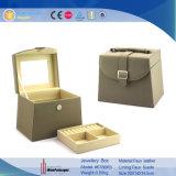 Jewelry Storage Leatherの方法女性の二重層の宝石箱(6786R3)