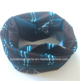 O produto da fábrica personalizou da garganta vermelha do poliéster da cópia do projeto o lenço tubular