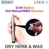 Kit di erbe di vendita originale della penna della cera del vaporizzatore della ricarica W&D di Seego Vhit