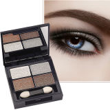 los desnudos profesionales de la sombra de ojo 4-Kit calientan escarpado sombras de ojo cosméticas ahumadas neutrales de bronce naturales