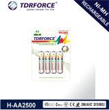 Bateria longa da vida de serviço do hidruro recarregável do metal niquelar AA/Hr6 com Ce para a venda