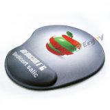 Almofada de rato vermelha do jogo do descanso de pulso do gel com descanso da mão