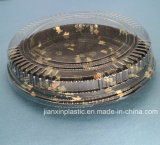 Caja de Sushi redondo de plástico transparente con tapa Anti-Fog