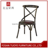 x 교차하는 뒤 금속 의자 중국 경제 대중음식점 가구