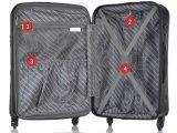 방적공 바퀴 상표 여행 여행 가방 본래 3D 두개골 수화물 여행 가방