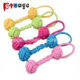 Hundewelpen-Baumwolseil-Tierkauen-Spielzeug-Haustier-Dentition-Spielwaren