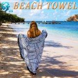 正方形の柔らかさの井戸のベロアプリントビーチタオル