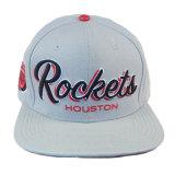 El bordado blanco de encargo del algodón 3D se divierte el casquillo del Snapback del sombrero del hombre