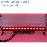 30W X 14 wasserdichtes LED Wand-Wäsche-Licht RGB