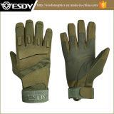 Colori verdi dell'attrezzo della barretta di sport esterni dell'esercito pieno tattico dei guanti