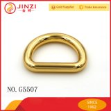 Gouden D-vormige ring van de Legering van het Zink van de douane de Roestvrije voor de Leiband van de Hond van de Halsband