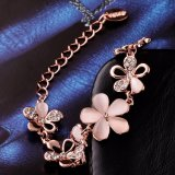 ImitatieJuwelen van de Armband van de Juwelen van de Vrouwen van de manier de Bloem Gevormde