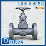 El borde integral de Didtek termina la válvula de globo de acero forjada A105n