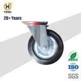 8 Zoll-industrieller Hochleistungsschwenker-Gummifußrollen-Rad mit Spitzenplatte