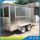 Remorque mobile en aluminium d'aliments de préparation rapide de chariot de hot-dog de cuisine de Ys-Fw400A