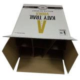 Le vin estampé par coutume de papier d'emballage enferme dans une boîte des transporteurs de la bouteille 6-Bottle de papier à vendre