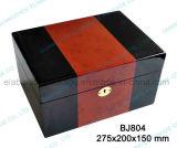 Rectángulo de madera de madera del almacenaje material/rectángulo del conjunto del regalo de la joyería