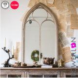 Specchio rotondo della campagna del cortile della parete del metallo impermeabile Handmade della decorazione