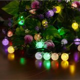 Weihnachtslicht-Kugel-Zeichenkette beleuchtet wasserdichte im Freienlicht-warme weiße angeschaltene Zeichenkette-Solarlichter der Zeichenkette-IP44 für Weihnachtshochzeits-kampierenden Rasen-Garten
