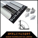 Angle de 45 degrés conduit Profil en aluminium pour bande LED lumière Corner monté (SJ-ALP1616)
