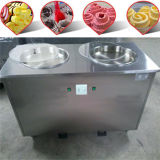 Acero inoxidable profesional que fríe la máquina del helado para la venta