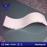 Arc-Shaped aluminium Panneau alvéolé pour l'intérieur ou de revêtement de mur extérieur