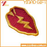 El bordado tejido divisa de encargo de la escritura de la etiqueta del bordado de la calidad de Hight parchea Keychain (YB-pH-KH)