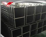 Quadrato nero usato costruzione e tubo vuoto rettangolare dell'acciaio della sezione