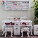 美の釘の大広間の家具のガラス上の白いマニキュアの釘表