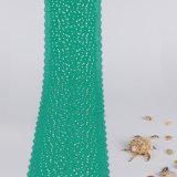 Зеленый шнурок Spandex и нейлона с Scalloped шнурком краев причудливый
