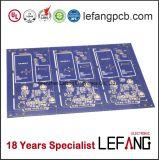 Доска PCB золота погружения для приспособления безопасности с голубым припоем
