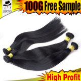 安いブラジルの漆黒カラー毛