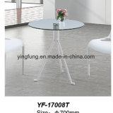 Nuova Tabella di tè del caffè di vetro Tempered di disegno con legno solido (YF-T17004)