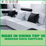 Sofá moderno do lazer do couro genuíno da U-Forma simples