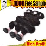 7Aマレーシア人の毛の自然なカラー人間の毛髪